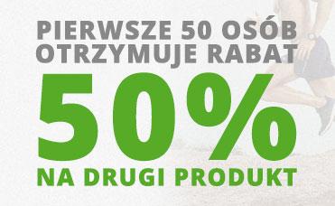 Pierwsze 50 osób otrzymuje rabat 50 procent na drugi produkt